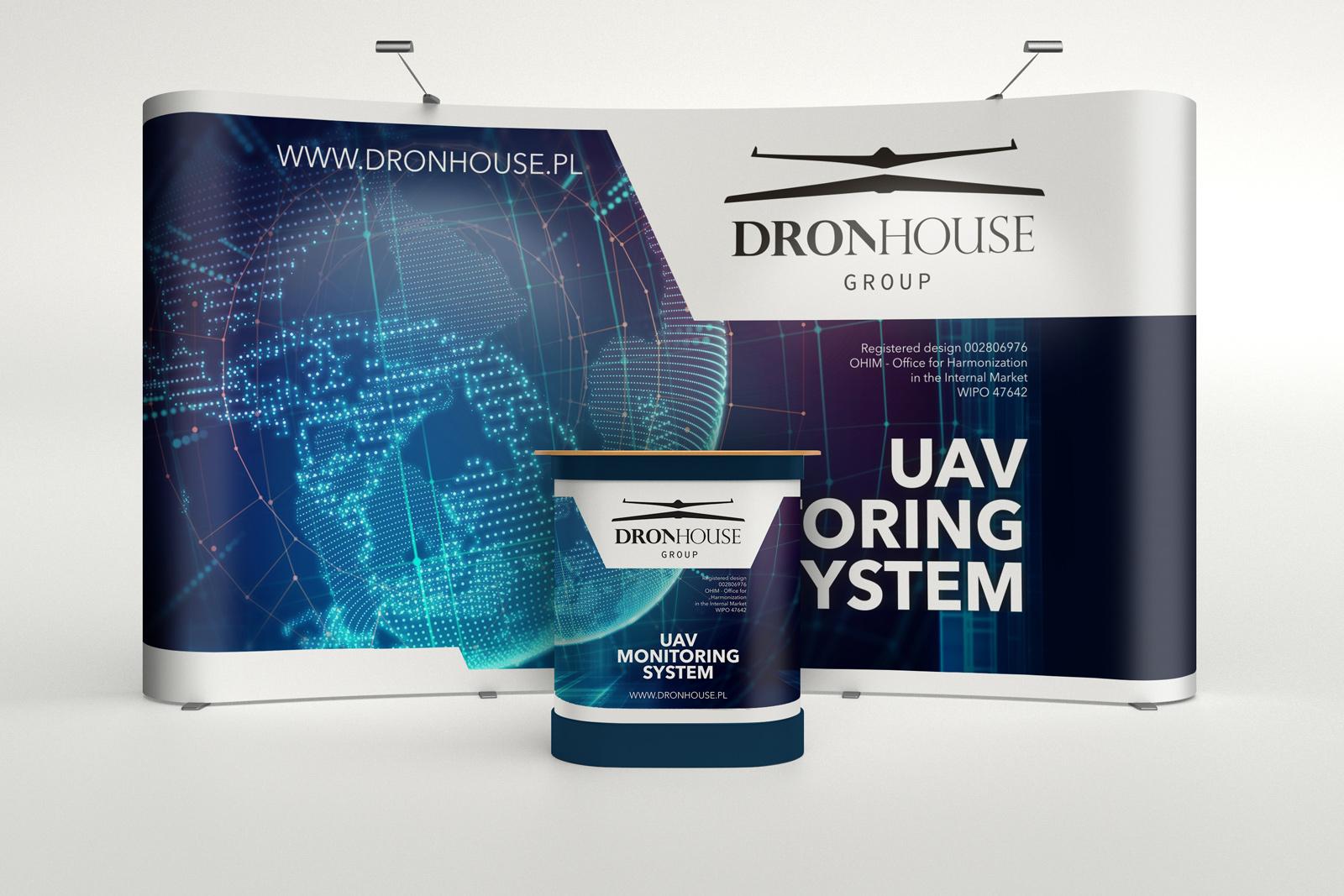 System Monitoringu UAV - ścianka i podium