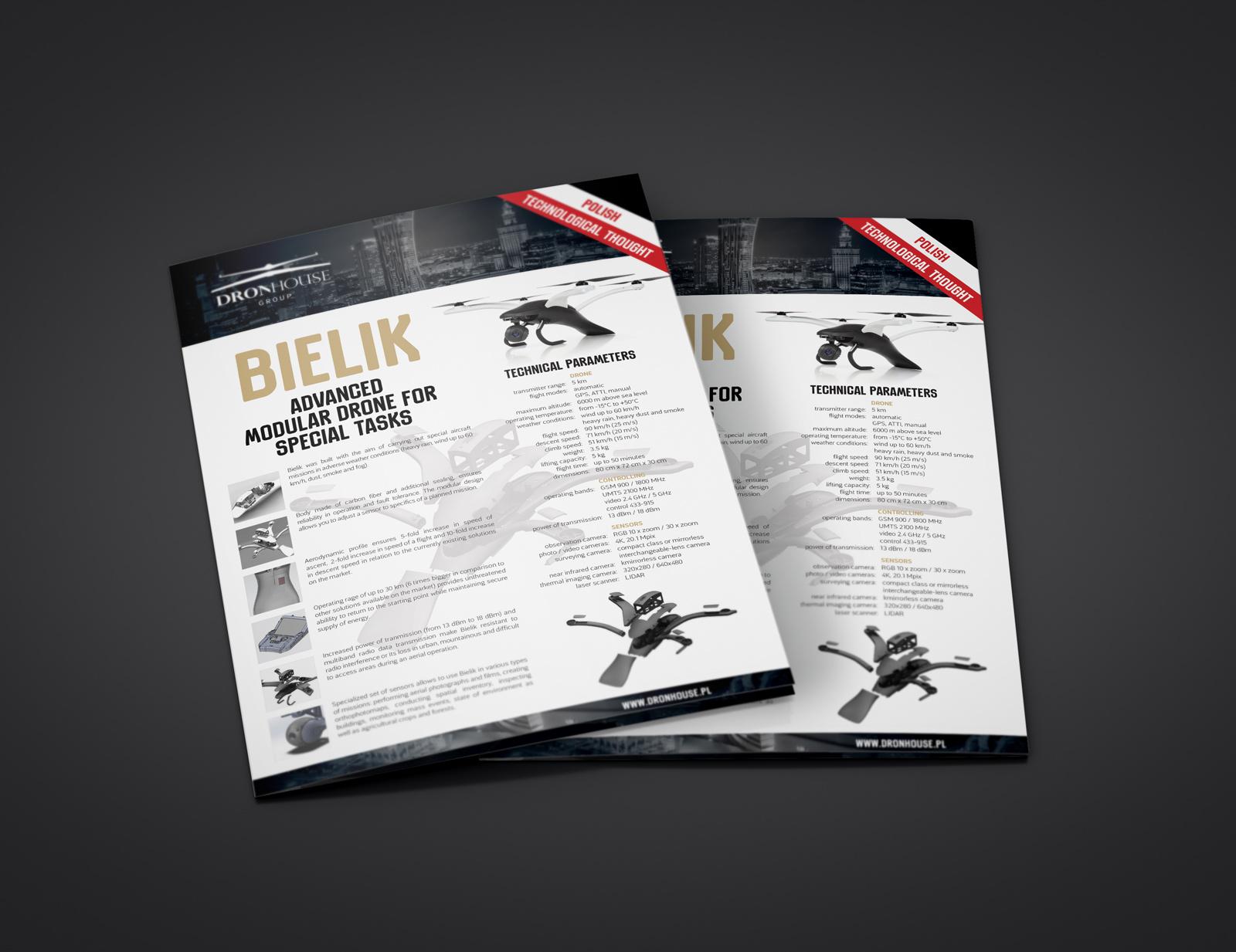 Ulotka Bielik i usługi ortofoto