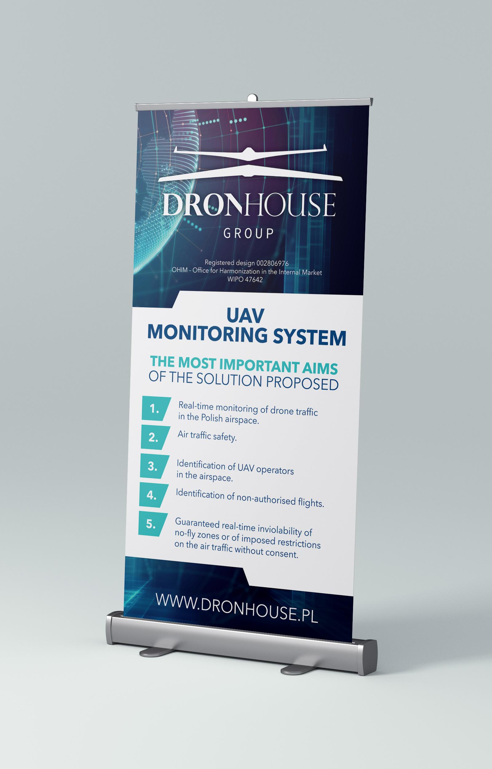 System Monitoringu UAV - roll-up - Dron House