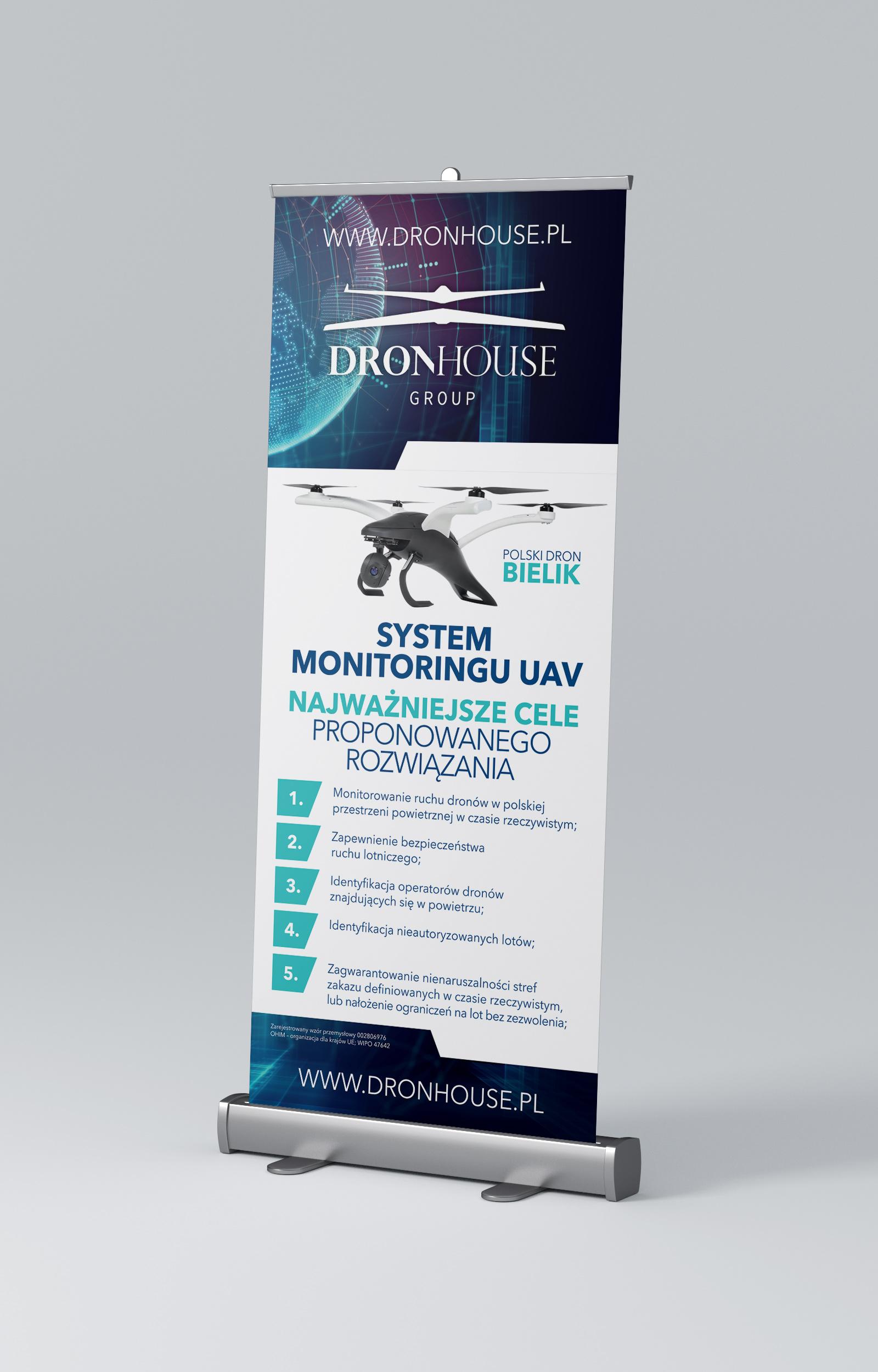 System Monitoringu UAV - roll-up