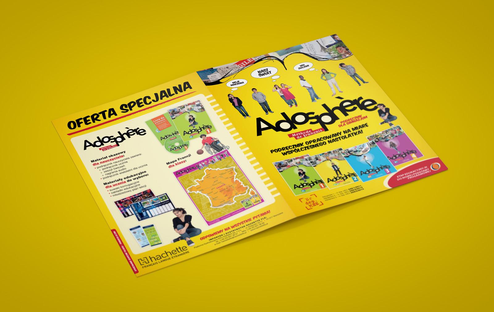 """Broszura """"Adosphère"""" - Hachette FLE"""