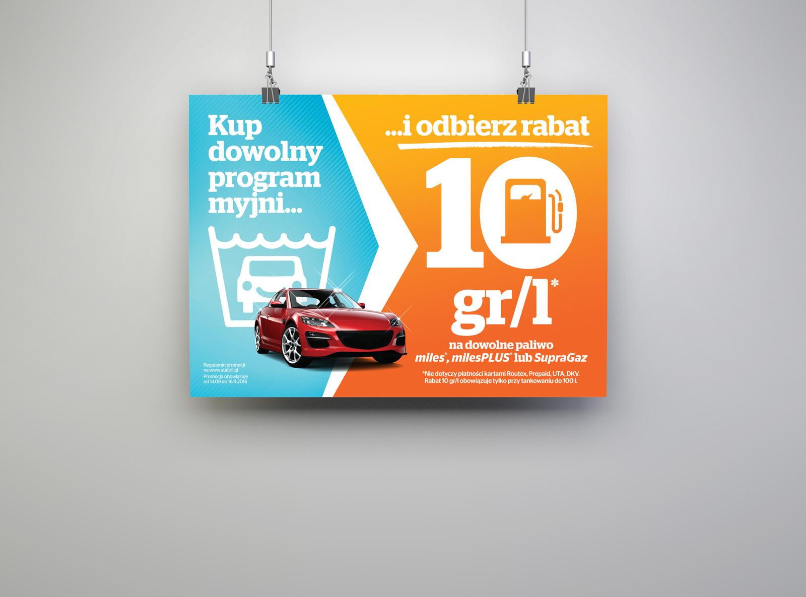 """Promocja """"Kup mycie i odbierz rabat"""" - Statoil"""